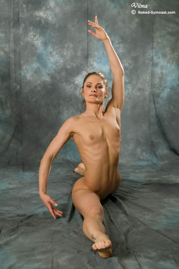 shaved flexible girl