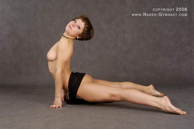 very flexible woman